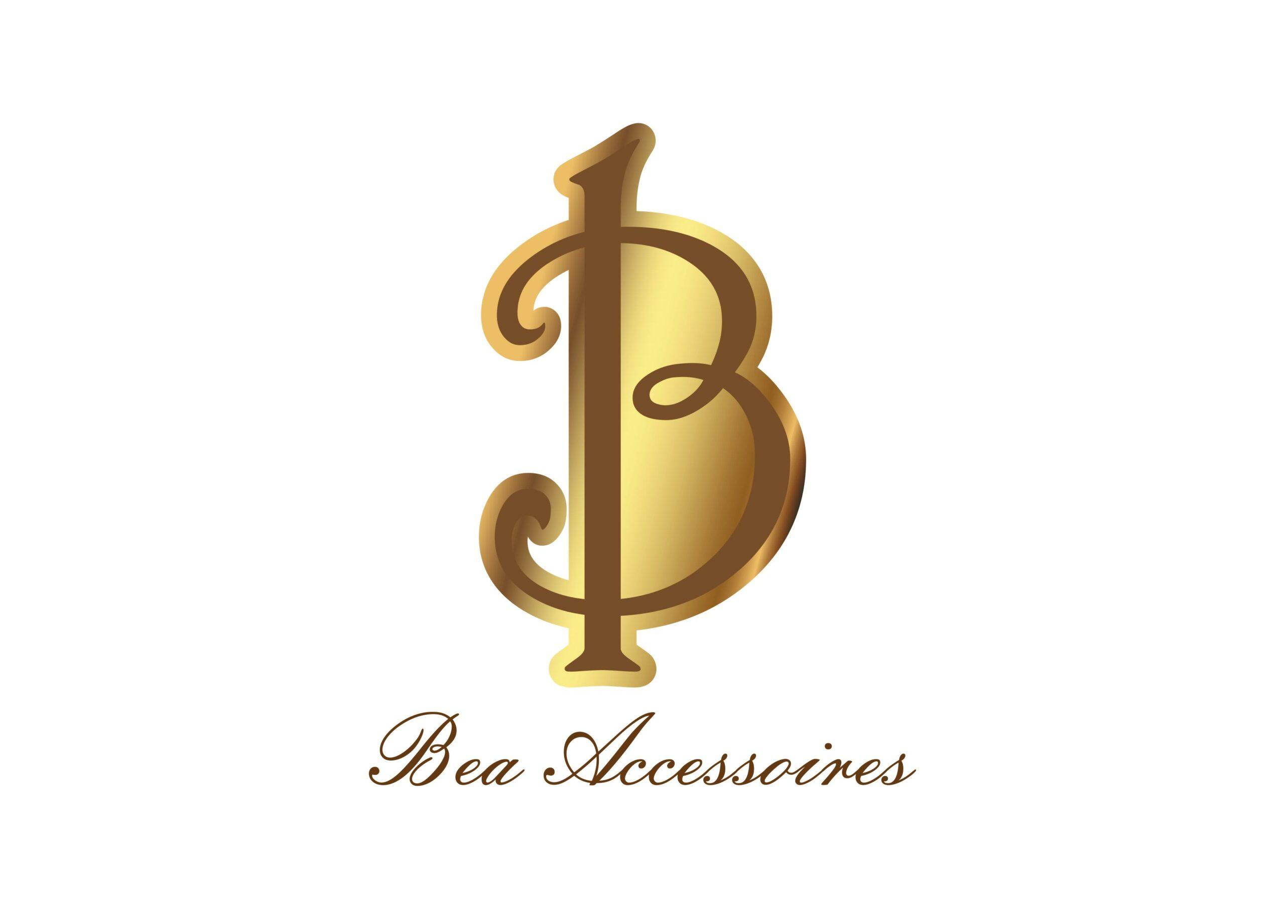Der Buchstabe B in goldener Farbe mit dem Text Bea Accessoires darunter
